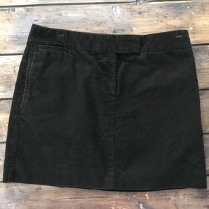 J.Crew Brown Corduroy Mini Skirt Size 4